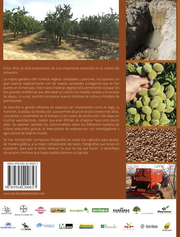 El cultivo del almendro cubierta posterior