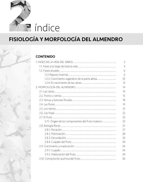 Fisiología y morfología del almendro indice