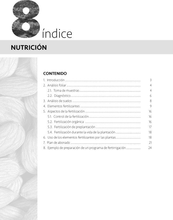 Nutrición del almendro, fertilizantes, abonado